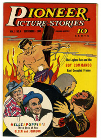 Pioneer Picture Stories #4 Mile High pedigree (Street & Smith, 1942) Condition: NM. Excellent cover gloss on thi...
