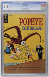 Popeye #77 File Copy (Gold Key, 1965) CGC NM 9.4 Off-white to white pages. Back cover pin-up. Overstreet 2006 NM- 9.2 va...