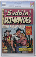 Golden Age (1938-1955):Western, Saddle Romances #10 (EC, 1950) CGC VF 8.0 Cream to off-white pages. Al Feldstein cover. Feldstein, Graham Ingels, and Wally ...