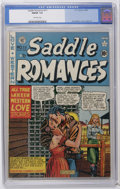 Golden Age (1938-1955):Romance, Saddle Romances #11 (EC, 1950) CGC FN/VF 7.0 Off-white pages. Al Feldstein cover. Wally Wood and Graham Ingels art. Overstre...
