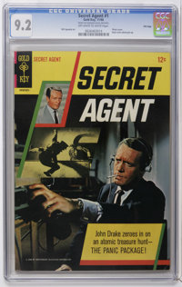 Secret Agent #1 File Copy (Gold Key, 1966) CGC NM- 9.2 Off-white to white pages. Patrick McGoohan photo cover. Photo pin...
