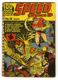 Speed Comics #14 (Harvey, 1941) Condition: VG+. This was only the second comic book from one of the most prolific publis...