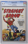 Golden Age (1938-1955):Western, Straight Arrow #5 (Magazine Enterprises, 1950) CGC VF+ 8.5 Off-white to white pages. Fred Meagher and Bob Powell art. Overst...