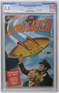 Golden Age (1938-1955):Science Fiction, Vic Torry & His Flying Saucer #nn (Fawcett, 1950) CGC VF- 7.5White pages. Partial photo cover. Flying saucer cover. Bob Pow...