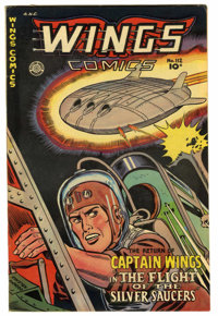 Wings Comics #112 Mile High pedigree (Fiction House, 1950) Condition: VF. Flying saucer cover and story. Overstreet 2006...