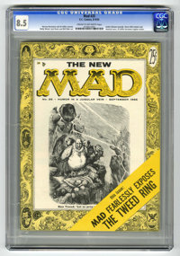 Mad #25 (EC, 1955) CGC VF+ 8.5 Cream to off-white pages. Al Jaffee's debut as a regular writer for the magazine. Jackie...