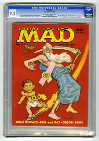 Mad #37 (EC, 1958) CGC NM- 9.2 Off-white to white pages. Norman Mingo cover. Ernie Kovacs story. Wally Wood, Mort Drucke...