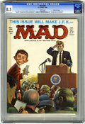 Magazines:Mad, Mad #66 Gaines File pedigree (EC, 1961) CGC VF+ 8.5 White pages.JFK cover by Kelly Freas. Mort Drucker, Joe Orlando, and Da...