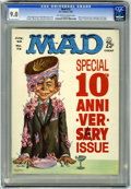 Magazines:Mad, Mad #72 (EC, 1962) CGC VF/NM 9.0. 10th anniversary issue. Kelly Freas cover. Comic strip parodies including Superman with Wa...