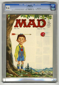 Mad #77 Gaines File pedigree (EC, 1963) CGC NM+ 9.6 Off-white to white pages. Norman Mingo cover. JFK and Fidel Castro p...