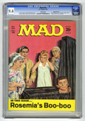"Magazines:Mad, Mad #124 Gaines File pedigree (EC, 1969) CGC NM 9.4 White pages. Norman Mingo cover. ""Rosemary's Baby"" spoof. Mort Drucker, ..."