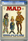 """Magazines:Mad, Mad #169 (EC, 1974) CGC NM+ 9.6 Off-white to white pages. """"Serpico""""and """"McCloud"""" parodies. Mort Drucker cover. Drucker, Jac..."""