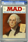"Magazines:Mad, Mad #181 (EC, 1976) CGC NM 9.4 Off-white to white pages.""Rollerball"" parody. George Washington cover. Alfred E. NeumanUniv..."