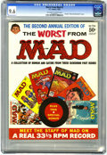 Magazines:Mad, Worst From Mad #2 (EC, 1959) CGC NM+ 9.6 Off-white to white pages.This square bound issue reprints Mad #35, 36, 37, 38,...