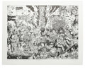 """Modern Age (1980-Present):Alternative/Underground, S. Clay Wilson - """"Poets in Hell"""" Signed Print (1983). This limited edition black and white print measures 26"""" x 18.25"""". Sign..."""