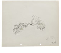 "Walt Disney Studios - ""Mickey's Mellerdrammer"" Animation Production Drawing Original Art, Group of 4 (Disney..."