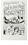 """Original Comic Art:Complete Story, Tom Hickey (attributed) - Hi-School Romance #58 Complete 5-pageStory """"Meant For Each Other"""" Original Art (Harvey, 1957). Ha...(Total: 5 )"""