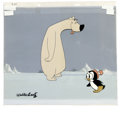 Animation Art:Production Cel, Chilly Willy and Polar Bear Animation Production Cel and BackgroundOriginal Art, Group of 3 (Walter Lantz Productions, undate...