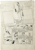 "Original Comic Art:Complete Story, Bob Powell - Complete Unpublished 9-page Story ""Dr. Endall Krime"" Original Art (Harvey, circa 1940). Here's a terrific insig..."