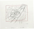 "Animation Art:Production Drawing, The Simpsons - ""Homer Simpson, Maggie Simpson, and Professor Frink""Preliminary Animation Drawing Original Art, Group of 5 (Tw...(Total: 5 Items)"