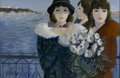 Fine Art - Painting, American:Other , CHARLES LEVIER (American 1920 - ). Ladies on the Bay. Oil oncanvas. 24 x 36in.. Signed lower left. Inscribed verso with...