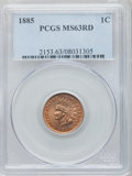 Indian Cents: , 1885 1C MS63 Red PCGS. PCGS Population (7/132). NGC Census: (2/68).Mintage: 11,765,384. Numismedia Wsl. Price for problem ...