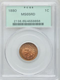 Indian Cents: , 1880 1C MS65 Red PCGS. PCGS Population (44/18). NGC Census:(40/16). Mintage: 38,964,956. Numismedia Wsl. Price for problem...