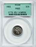 Proof Three Cent Nickels: , 1883 3CN PR65 PCGS. PCGS Population (503/412). NGC Census:(497/374). Mintage: 6,609. Numismedia Wsl. Price for problem fre...