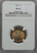 Liberty Nickels: , 1893 5C MS65 NGC. NGC Census: (88/8). PCGS Population (88/15).Mintage: 13,370,195. Numismedia Wsl. Price for problem free ...