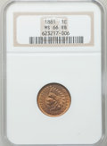 Indian Cents: , 1881 1C MS66 Red and Brown NGC. NGC Census: (24/1). PCGS Population (4/0). Mintage: 39,211,576. Numismedia Wsl. Price for p...