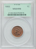 Indian Cents: , 1883 1C MS64 Red and Brown PCGS. PCGS Population (245/56). NGCCensus: (298/248). Mintage: 45,598,108. Numismedia Wsl. Pric...