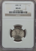 Liberty Nickels: , 1898 5C MS65 NGC. NGC Census: (83/19). PCGS Population (84/23).Mintage: 12,532,087. Numismedia Wsl. Price for problem free...