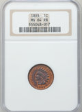 Indian Cents: , 1893 1C MS64 Red and Brown NGC. NGC Census: (338/170). PCGSPopulation (218/22). Mintage: 46,642,196. Numismedia Wsl. Price...