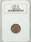 Indian Cents: , 1889 1C MS64 Red and Brown NGC. NGC Census: (328/175). PCGSPopulation (176/23). Mintage: 48,869,360. Numismedia Wsl. Price...