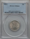 Liberty Nickels: , 1892 5C MS64 PCGS. PCGS Population (194/115). NGC Census: (134/88).Mintage: 11,699,642. Numismedia Wsl. Price for problem ...