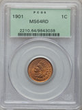Indian Cents: , 1901 1C MS64 Red PCGS. PCGS Population (342/246). NGC Census:(155/145). Mintage: 79,611,144. Numismedia Wsl. Price for pro...