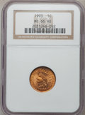 Indian Cents: , 1903 1C MS66 Red NGC. NGC Census: (108/10). PCGS Population (65/5).Mintage: 85,094,496. Numismedia Wsl. Price for problem ...