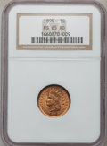 Indian Cents: , 1895 1C MS65 Red NGC. NGC Census: (184/82). PCGS Population(119/38). Mintage: 38,343,636. Numismedia Wsl. Price for proble...