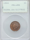 Proof Indian Cents: , 1866 1C PR64 Red and Brown PCGS. PCGS Population (81/58). NGCCensus: (36/86). Mintage: 725. Numismedia Wsl. Price for prob...