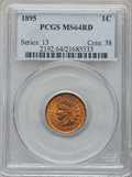Indian Cents: , 1895 1C MS64 Red PCGS. PCGS Population (140/157). NGC Census:(177/266). Mintage: 38,343,636. Numismedia Wsl. Price for pro...