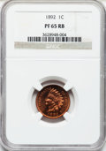 Proof Indian Cents: , 1892 1C PR65 Red and Brown NGC. NGC Census: (130/24). PCGSPopulation (63/11). Mintage: 2,745. Numismedia Wsl. Price for pr...