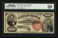 Large Size:Legal Tender Notes, Fr. 174 $100 1880 Legal Tender PMG Very Fine 30.. ...