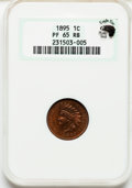 Proof Indian Cents: , 1895 1C PR65 Red and Brown NGC. Ex: Eagle Eye Photo Seal. NGCCensus: (119/32). PCGS Population (44/13). Mintage: 2,062. Nu...