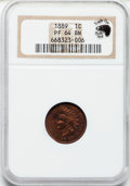 Proof Indian Cents: , 1889 1C PR64 Brown NGC. Ex: Eagle Eye Photo Seal. NGC Census:(102/124). PCGS Population (52/37). Mintage: 3,336. Numismedi...
