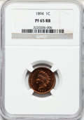 Proof Indian Cents: , 1894 1C PR65 Red and Brown NGC. NGC Census: (39/11). PCGS Population (24/0). Mintage: 2,632. Numismedia Wsl. Price for prob...