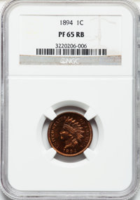 1894 1C PR65 Red and Brown NGC. NGC Census: (39/11). PCGS Population (24/0). Mintage: 2,632. Numismedia Wsl. Price for p...