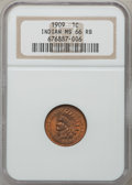 Indian Cents: , 1909 1C MS66 Red and Brown NGC. NGC Census: (50/0). PCGS Population(6/0). Mintage: 14,370,645. Numismedia Wsl. Price for p...