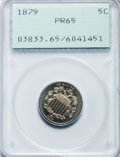 Proof Shield Nickels: , 1879 5C PR65 PCGS. PCGS Population (167/83). NGC Census: (158/129).Mintage: 3,200. Numismedia Wsl. Price for problem free ...