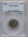 Buffalo Nickels: , 1914 5C MS65 PCGS. PCGS Population (309/162). NGC Census: (191/63).Mintage: 20,665,738. Numismedia Wsl. Price for problem ...
