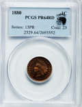 Proof Indian Cents: , 1880 1C PR64 Red PCGS. Ex: Eagle Eye Photo Seal. PCGS Population(45/84). NGC Census: (30/72). Mintage: 3,955. Numismedia W...